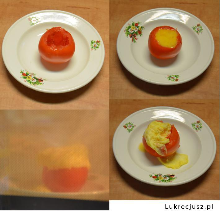 Omlet w pomidorze kroki