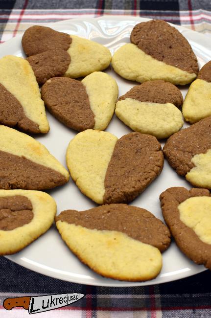 Kruche ciastka waniliowo-kakaowe