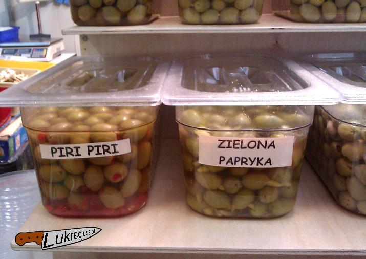 oliwki piri-piri, zielona papryka