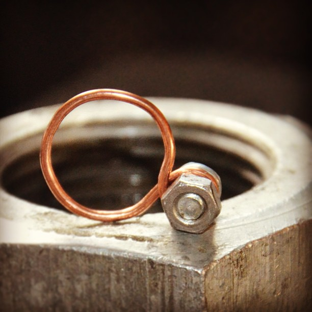 pierścień mocy :) #postpunk #upcycling #jewelry #ring #steampunk