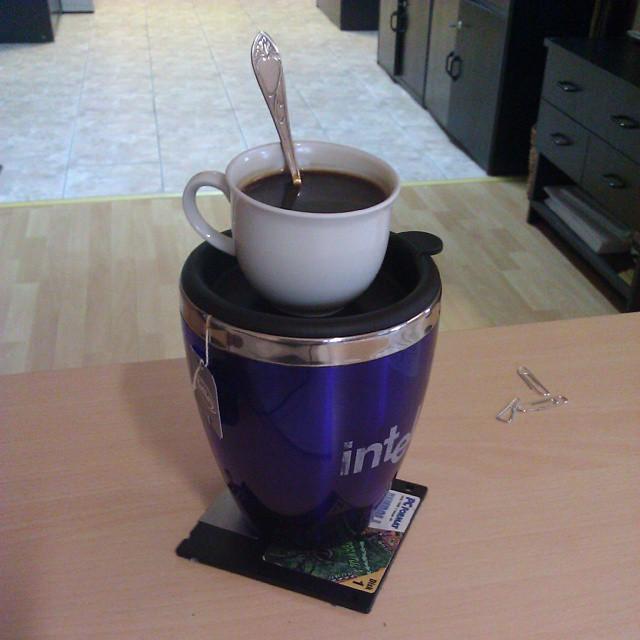 Poranna #kawa i #herbata w fabryce #coffe #tea #work