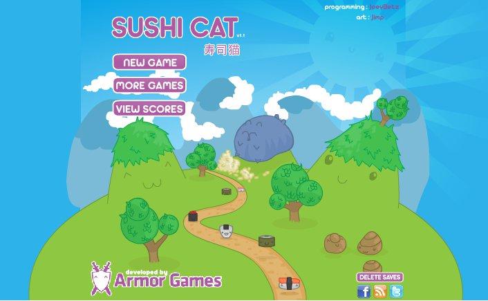 Sushi Cat zabawa jedzeniem.