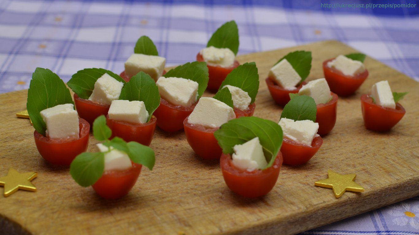 tapeta pomidor ser feta bazylia 1366x768