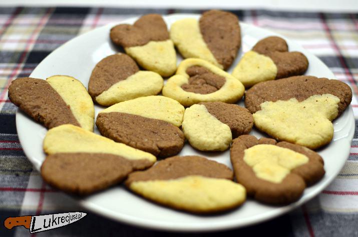 Kruche ciasteczka waniliowo-kakaowe do herbaty
