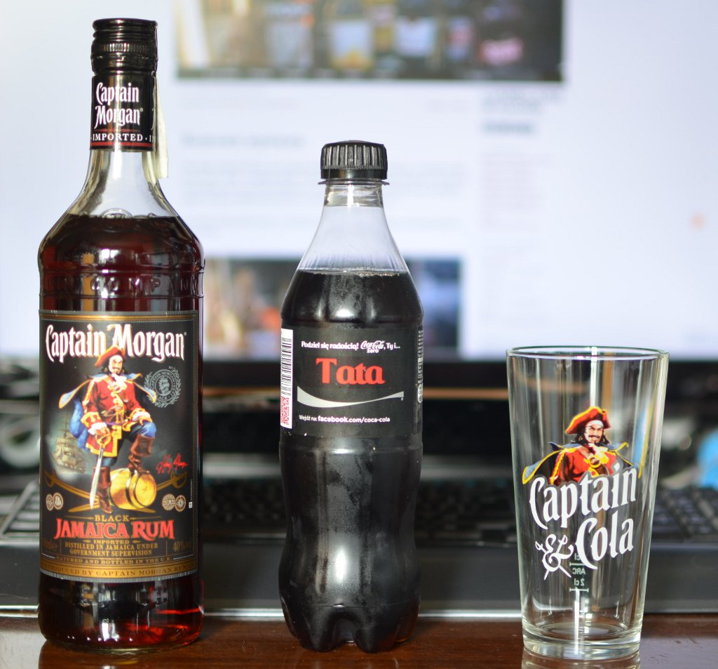 captain morgan father glass