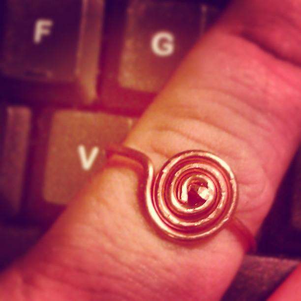 Kolejna koncepcja :) miedziany #pierścionek #biżuteria #DIY #jewerly #ring #upcycling #postpunk