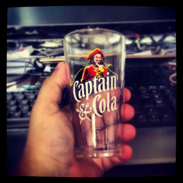 Niesamowity nabytek #szklanka na mój #rum #captain #morgan #glass