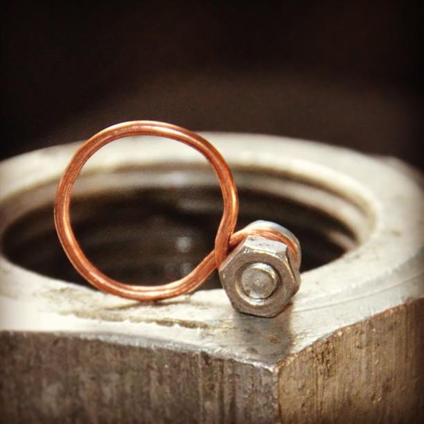 pierścień mocy :) #postpunk #upcycling #jewelry #ring #steampunk